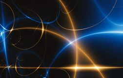 Free Dance Of Lights In The Dark, Fractal 02FX3 Stock Image - 4442671