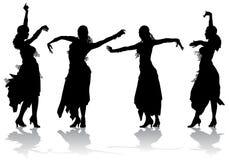 Dance_4 oriental stock de ilustración