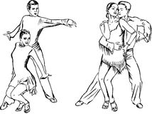 Dance pairs Royalty Free Stock Images