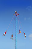 Dance of Papantla flyers danza de los voladores Stock Photo