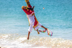 Dance of the Papantla Flyers Voladores de Papantla - Puerto Vallarta, Jalisco, Mexico Royalty Free Stock Photos