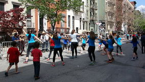 The 2014 Dance Parade New York 9. Dance Parade New York is an entity of Dance Parade Inc. whose charitable mission is to promote dance as an expressive and royalty free stock photo