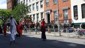 The 2014 Dance Parade New York 43. Dance Parade New York is an entity of Dance Parade Inc. whose charitable mission is to promote dance as an expressive and Royalty Free Stock Image
