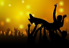 Dance Party. Colored background illustration Royalty Free Stock Image