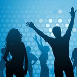 Dance Party. Night Club Life as Vector Background Illustration Royalty Free Stock Images