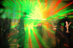 Dance party. Big gothic and industrial party with lasers royalty free stock image