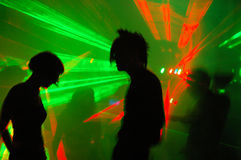 Dance party. Big gothic and industrial party with lasers Stock Image