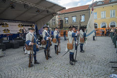 Dance, party and appearance at Halden squares Royalty Free Stock Photo