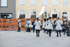 Dance, party and appearance at Halden squares Stock Images