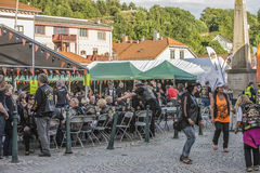 Dance, party and appearance at Halden squares Royalty Free Stock Image