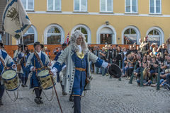 Dance, party and appearance at Halden squares Stock Image