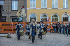 Dance, party and appearance at Halden squares Stock Photo