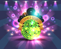 Dance Party Banner Background Flyer Templates Stock Image