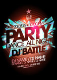Dance party design, dj battle. Stock Images