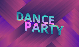 Dance party flyer, musical background, vector Stock Photos