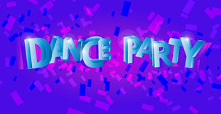 Dance party flyer, musical background, vector Stock Image