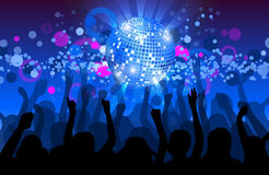 Dance party flyer, musical background. Royalty Free Stock Photo