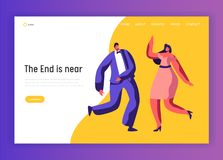 Dance Party Happy Adult Dress-up People Web Page. Dance Party Happy Adult Dress-up People Landing Page. Merry Couple Character Celebrate Holiday Event. Disco stock illustration