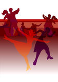 Dance Party invitation background Stock Photos