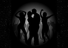 Dance Party Invitation Stock Image