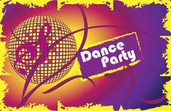 Dance party.Invitation card.Music club banner. Vector illustration stock illustration