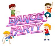 A dance party logo. Illustration stock illustration