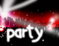 Dance party music Stock Images
