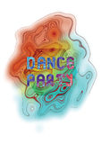 Dance party music poster template.  Vector abstract background. Stock Photos