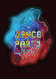 Dance party music poster template.  Vector abstract background. Stock Photo