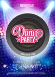 Dance Party Night Poster Background Template - Vector Illustration Stock Image
