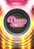 Dance Party Night Poster Background Template - Vector Illustration Stock Photos