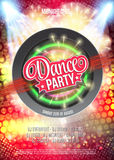 Dance Party Night Poster Background Template - Vector Illustration Royalty Free Stock Image
