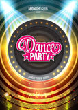 Dance Party Night Poster Background Template - Vector Illustration Stock Photo