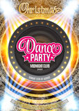 Dance Party Night Poster Background Template - Vector Illustration Royalty Free Stock Photography