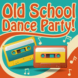 Dance party. Old school dance party poster in retro design stock illustration