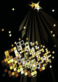 Dance party poster with abstract lights Royalty Free Stock Photography