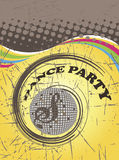 Dance party poster.Abstract spiral Stock Photos