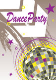 Dance party poster with arrow Royalty Free Stock Photography