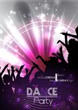 Dance Party Poster Background Template - Vector Illustration Royalty Free Stock Photos