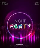 Dance party poster  background template with triangles and circles particles, lines, highlight and modern geometric shapes i Royalty Free Stock Photo