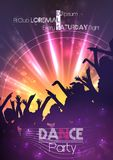 Dance Party Poster Background Template - Vector Illustration Stock Photos