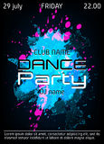 Dance party poster with place for text. Template for flyer, invitations, banners. Vector Illustration vector illustration