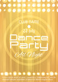 Dance party poster with place for text. Royalty Free Stock Photo