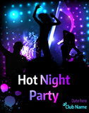 Dance party poster template Royalty Free Stock Photos