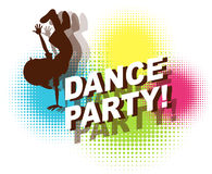 Dance party. In retro design stock illustration