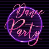 Dance party retro text. Illustration stock illustration