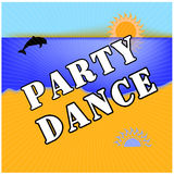 Dance party . Sun, Sea, Beach . Business cards, flyers, brochures. Vector illustration. EPS10. Stock Photo