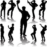 Dance people with hat Royalty Free Stock Photo