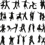 Dance people silhouette vector stock photo