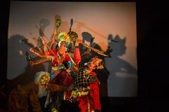 Dance performance dedicated to Hindu godess Durga Royalty Free Stock Photos